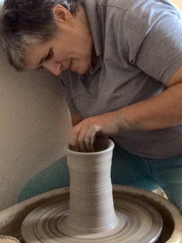sylvie robert au tour de poterie