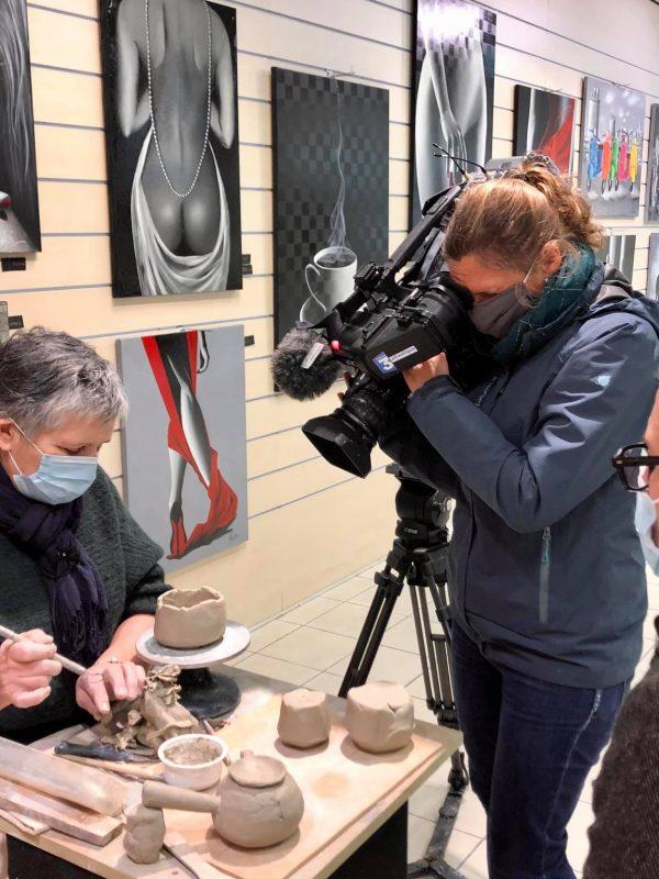 sylvie robert filmée par France3 à angoulins